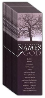 Old Testament Names of God, Bookmarks, 25