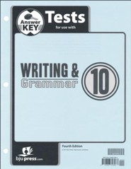 Writing & Grammar Grade 10 Tests Answer Key (4th  Edition)