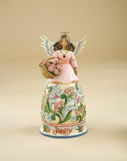 January Birthstone Angel Figurine