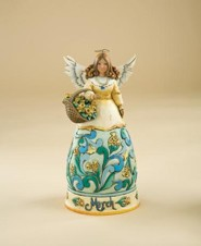 March Birthstone Angel Figurine