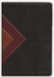 Imitation Leather Brown / Tan Black Letter Thumb Index