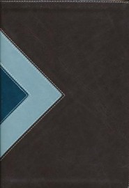 Imitation Leather Brown / Teal Black Letter Thumb Index - Slightly Imperfect