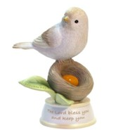 Birthstone Bird Figure, The Lord Bless and Keep You, November