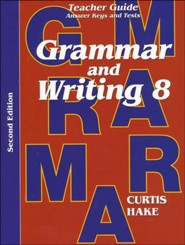 Saxon Grammar & Writing Grade 8 Teacher Guide, 2nd Edition