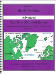 BiblioPlan's Hands-On Maps for Advanced: Medieval History,  Grades 8-12 (2016 Edition)