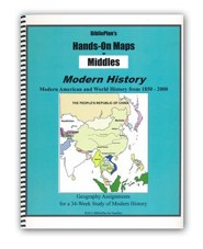 BiblioPlan's Hands-On Maps for Middles: Modern History, Grades 2-8