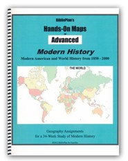 BiblioPlan's Hands-On Maps for Advanced: Modern History, Grades 8-12