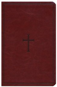 Imitation Leather Brown Large Print Book Red Letter