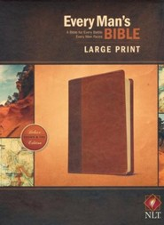 Imitation Leather Brown Large Print Book Black Letter - Slightly Imperfect