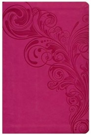 Imitation Leather Pink Large Print Book Red Letter Thumb Index - Slightly Imperfect