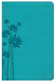 Imitation Leather Teal Large Print Book Red Letter Thumb Index