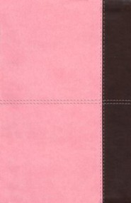 Imitation Leather Pink / Brown Large Print Book Red Letter Thumb Index