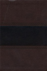 Imitation Leather Brown Large Print Book Thumb Index / Dark Brown