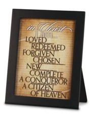 In Christ, I Am Tabletop Plaque