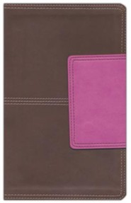 Imitation Leather Brown / Pink Thumb Index