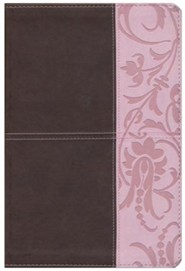 Imitation Leather Brown / Pink Book Thumb Index - Slightly Imperfect