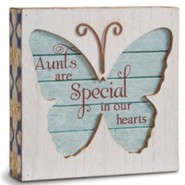 Aunts Are Special In Our Hearts, Butterfly Plaque