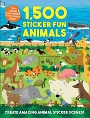 1,500 Sticker Fun, Animals