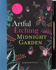 Artful Etching Scratch Art: Midnight Garden