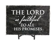 The Lord is Faithful to All His Promises Granite Plaque, Black