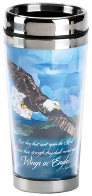 Wings As Eagles Travel Mug, Blue