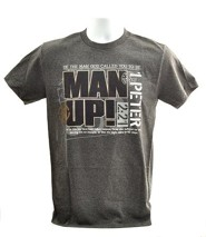 Be The Man God Called You to Be, Man Up Shirt, Gray, Medium