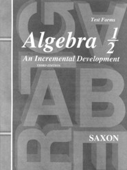 Saxon Algebra 1/2 Test Forms, 3rd Edition
