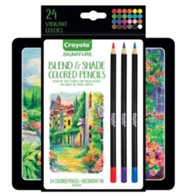 Crayola, Blend & Shade Colored Pencils with Tin, 24 Pieces