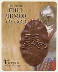 Full Armor of God Pocket Stone, Shoes