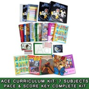 ACE Comprehensive Curriculum (7 Subjects), Single Student Complete PACE & Score Key Kit, Grade 1, 3rd Edition (with 4th Edition Science & Social Studies)