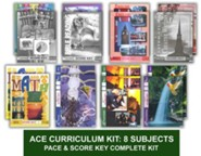 ACE Comprehensive Curriculum (8 Subjects), Single Student Complete PACE & Score Keys Kit, Grade 2, 3rd Edition (with 4th Edition Science & Social Studies)