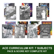 ACE Comprehensive Curriculum (7 Subjects), Single Student Complete PACE & Score)
