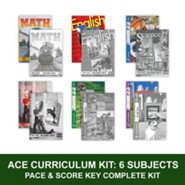 ACE Comprehensive Curriculum (6 Subjects), Single Student Complete PACE & Score Key Kit, Grade 6