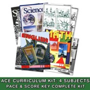 ACE Core Curriculum (4 Subjects), Single Student Complete PACE & Score Keys Kit, Grade 10, 3rd Edition
