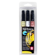 Pen-Touch Paint Marker 1MM, Set of 3, Assorted Colors