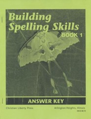 Building Spelling Skills Book 1 Answer Key, 2nd Edition, Grade 1