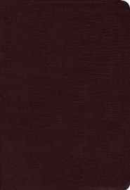 Bonded Leather Burgundy Book Black Letter Thumb Index