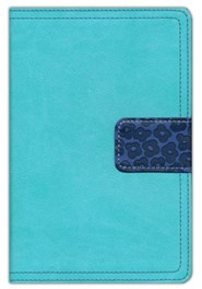 Imitation Leather Turquoise / Navy Book Red Letter