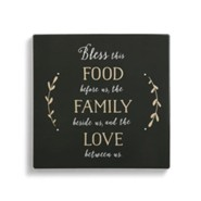 Bless This Food Before Us, the Family Beside Us, and the Love Between Us, Trivet with Cork Conversion Chart