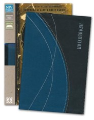 Imitation Leather Blue / Black Book