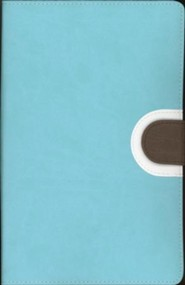 Imitation Leather Turquoise / Brown