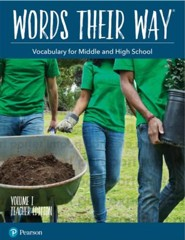 Words Their Way: Vocabulary for Middle and High School Volume 1 Teacher Edition