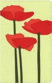 Green / Red Poppies