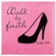 Walk By Faith Napkins, Pack of 20
