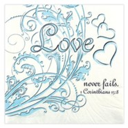 Love Never Fails Napkins, Pack of 20