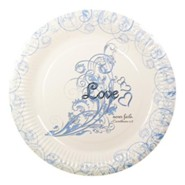 Love Never Fails Plates, Pack of 10