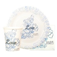 Love Never Fails Paper Goods, Set of 40