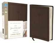 NIV Journal the Word Bible, Large Print, Imitation Leather, Brown