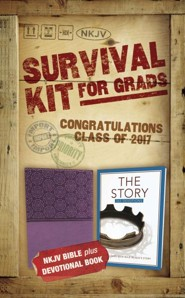 NKJV 2017 Survival Kit for Grads, Girls' Edition,  Purple  - Imperfectly Imprinted Bibles