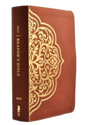 NIV, Reader's Bible, Imitation Leather, Brown and Gold